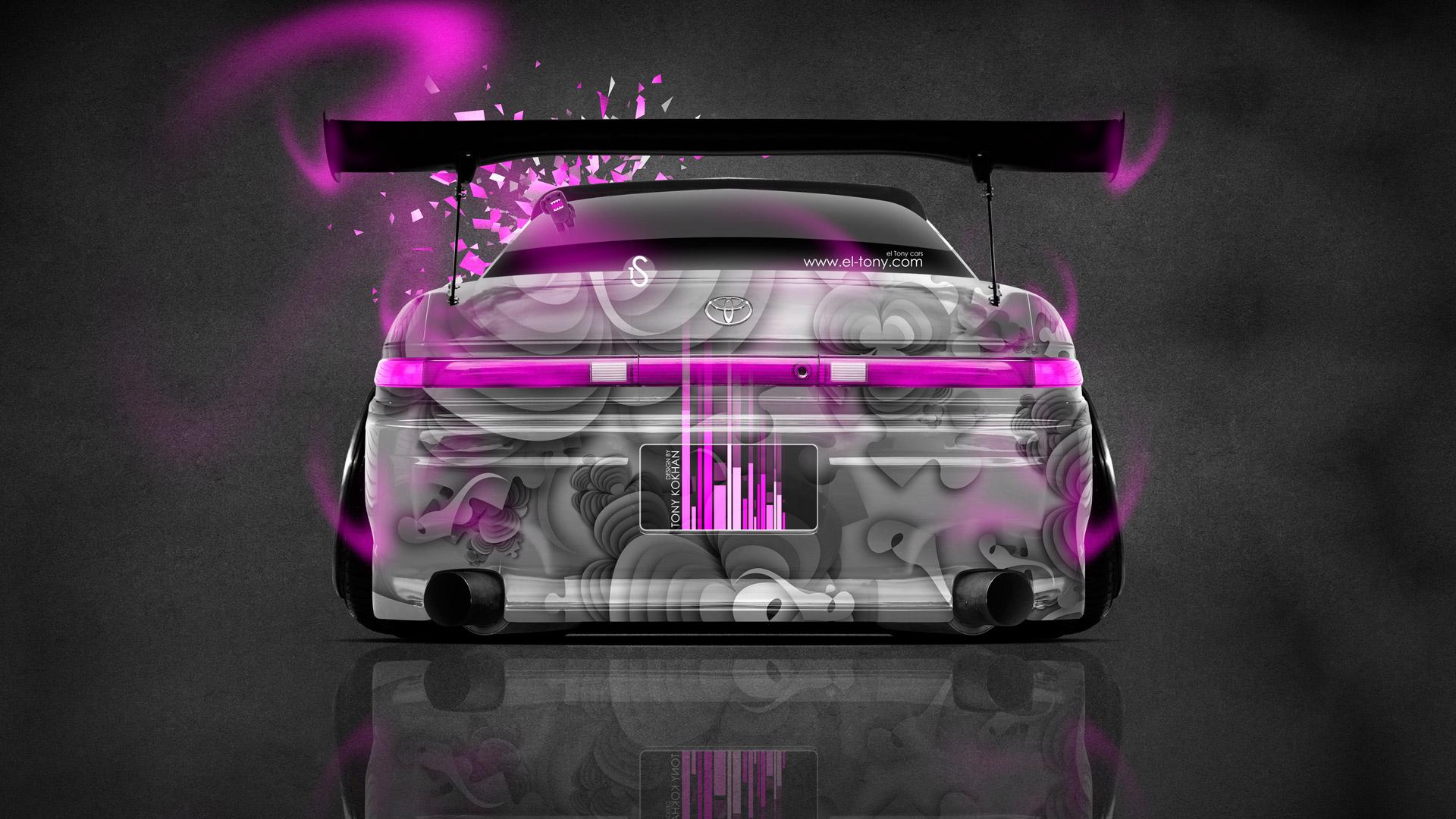 Jdm Toyota Chaser Jzx100. Pink And Black Batman Car 18 Desktop Background