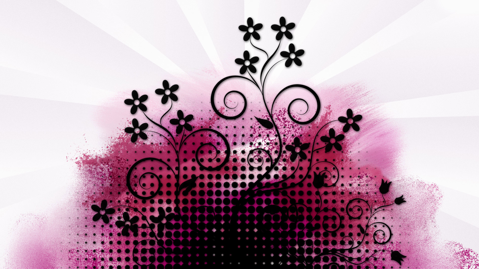 Pink and black wallpaper designs 5 cool hd wallpaper for Wallpaper design ideas