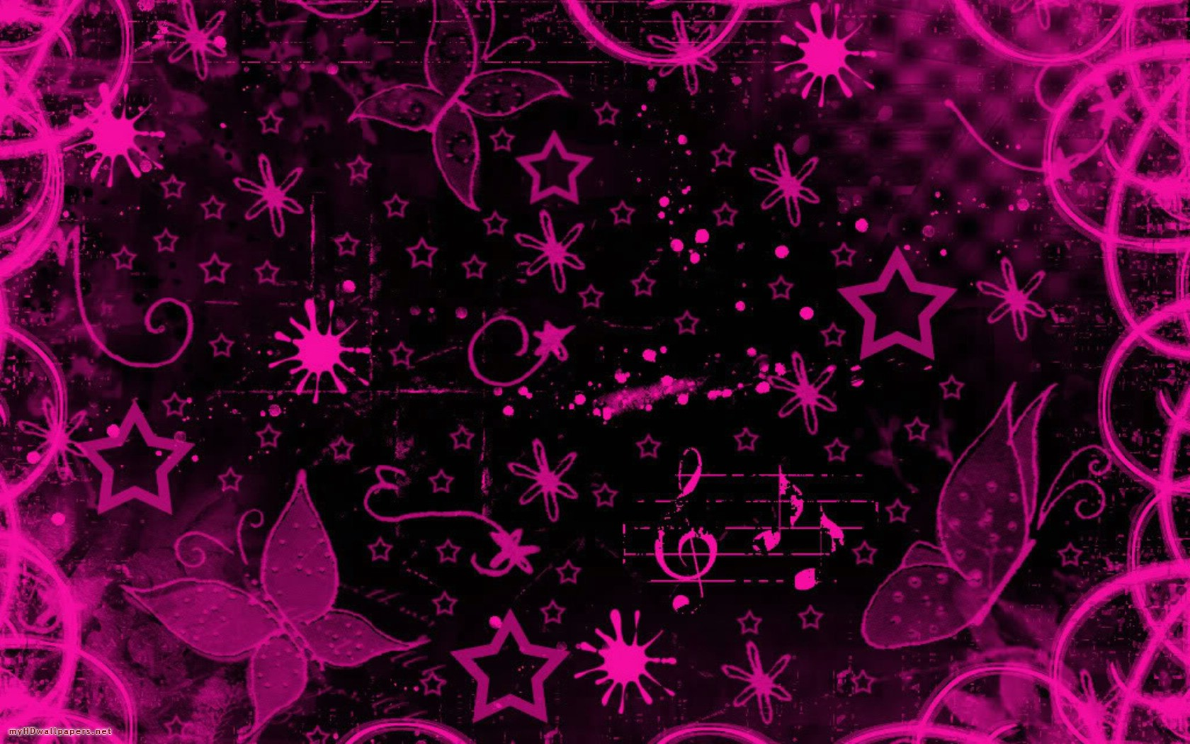 Pink And Black Wallpaper Designs 13 Wide Wallpaper