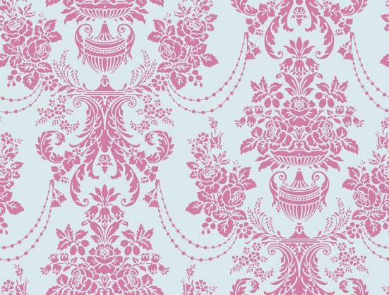 Pink Damask Wallpaper 1 Widescreen