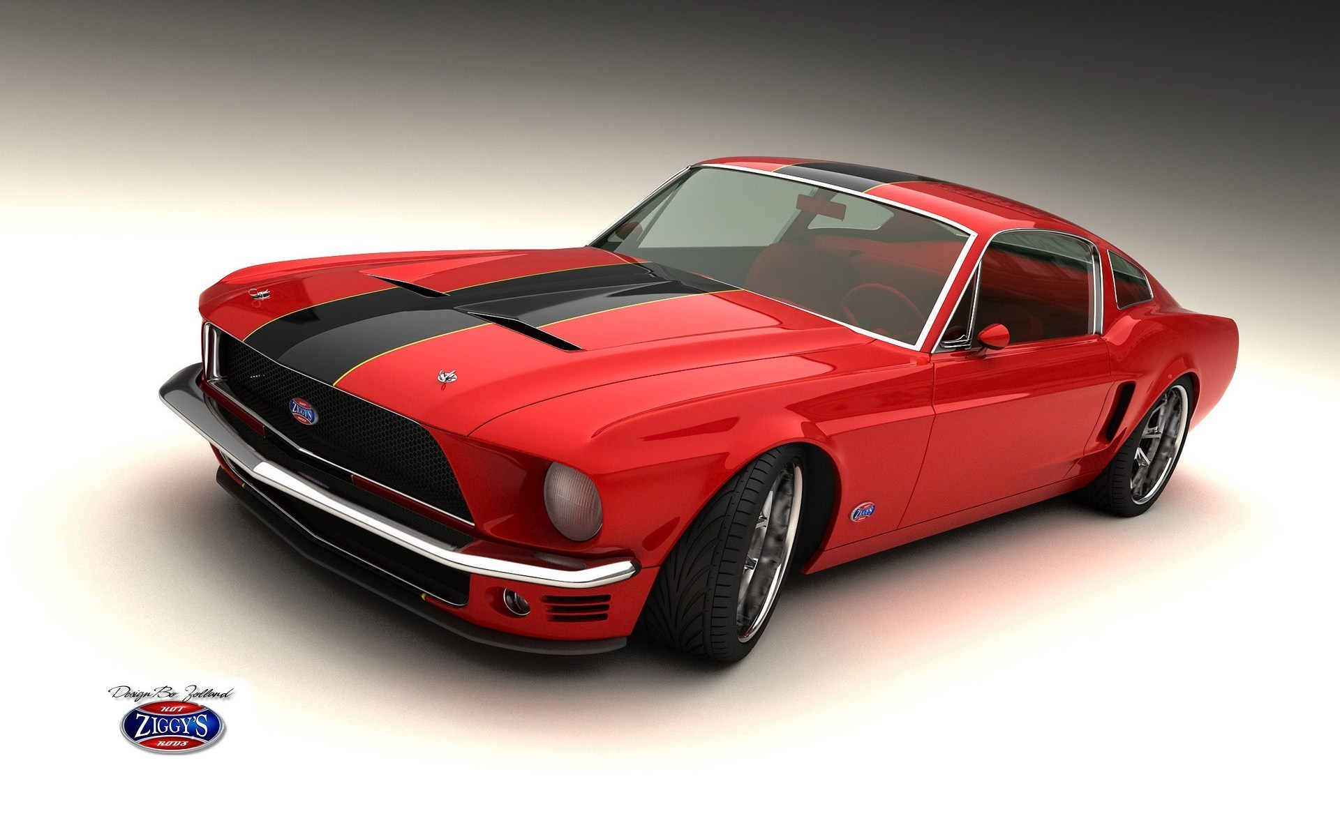 Red And Black Car Wallpapers: Red And Black Muscle Cars 38 Cool Hd Wallpaper