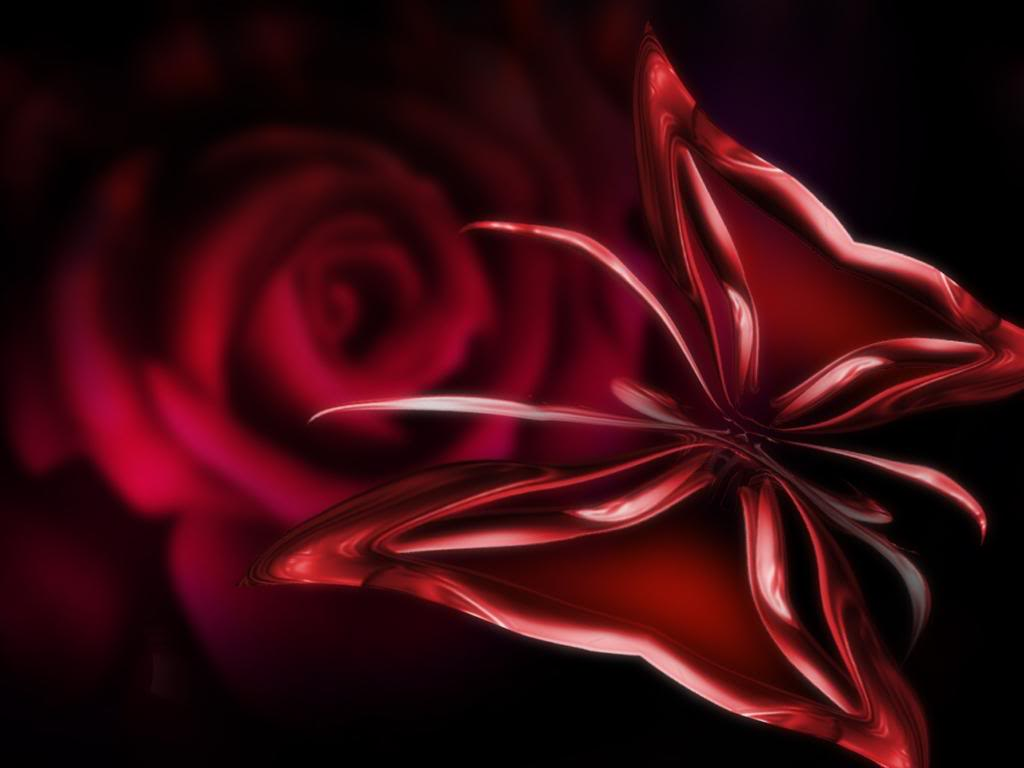Group Of 3d Butterfly Wallpaper Red