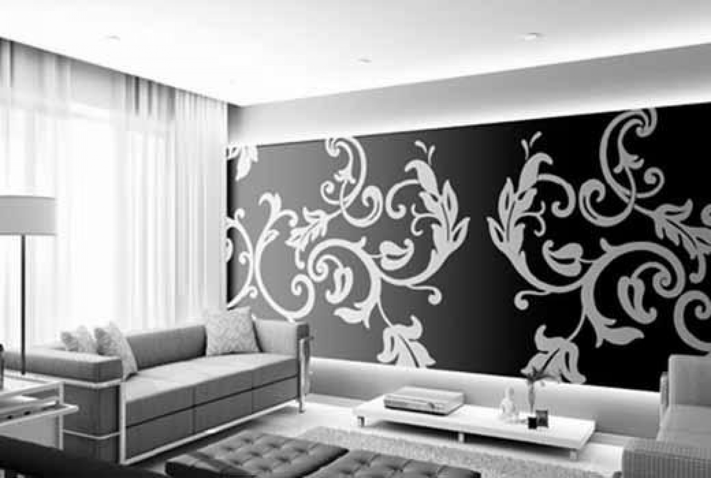 White and black wallpaper designs 8 cool hd wallpaper for Black and white wallpaper for bedroom