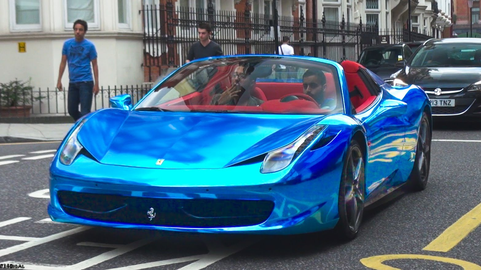 black and blue ferrari 34 free hd wallpaper - Ferrari 458 Blue Wallpaper