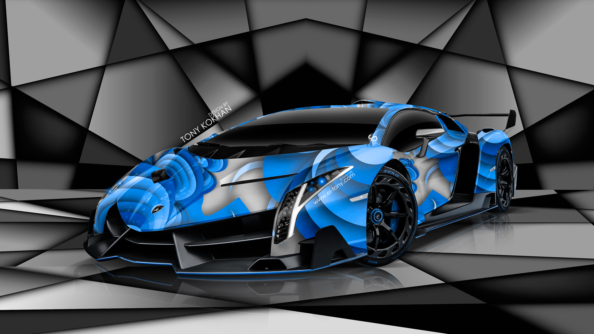 Black And Blue Lamborghini Wallpaper 14 Free