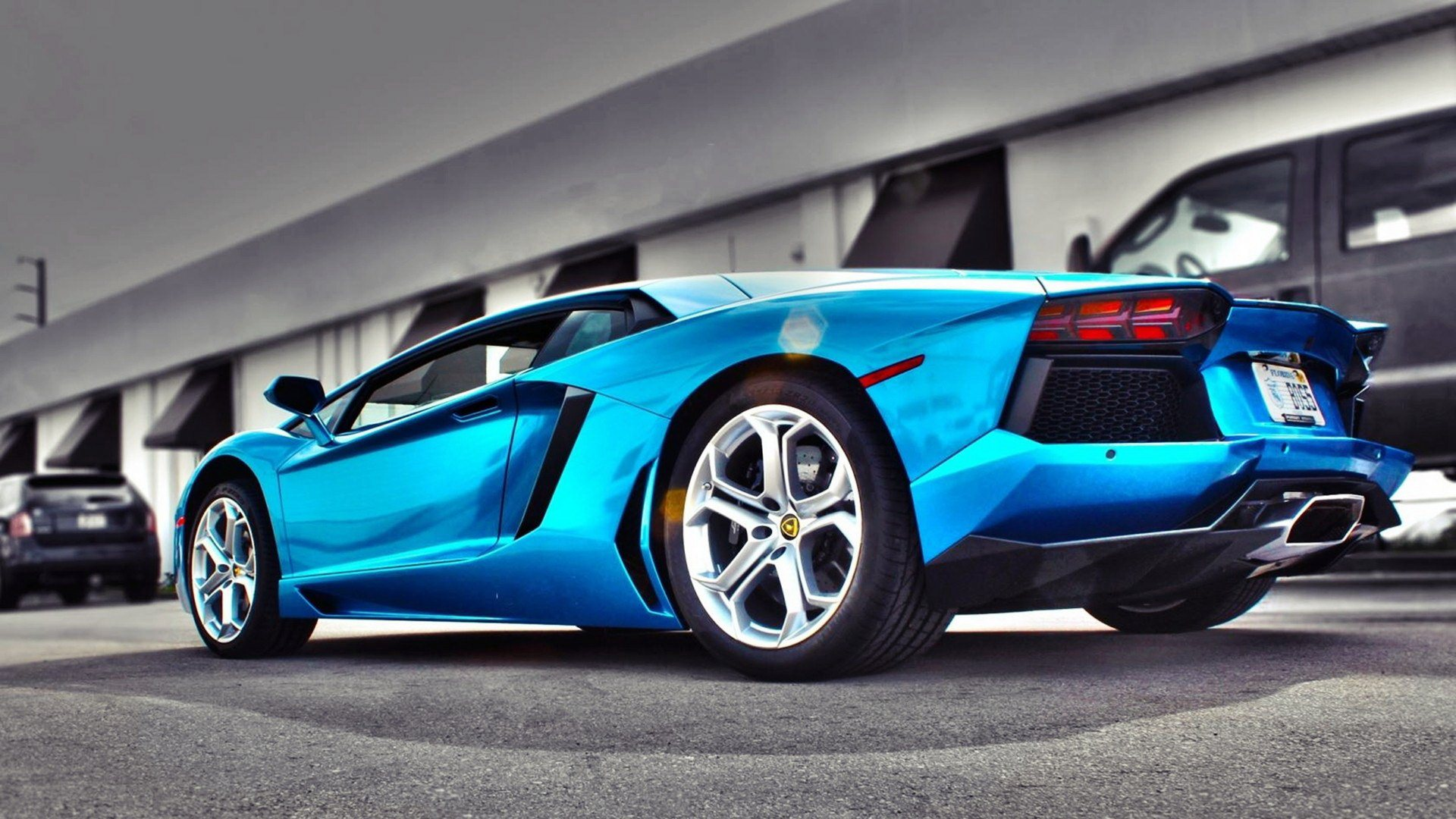 Black And Blue Lamborghini Wallpaper 2 Desktop Background