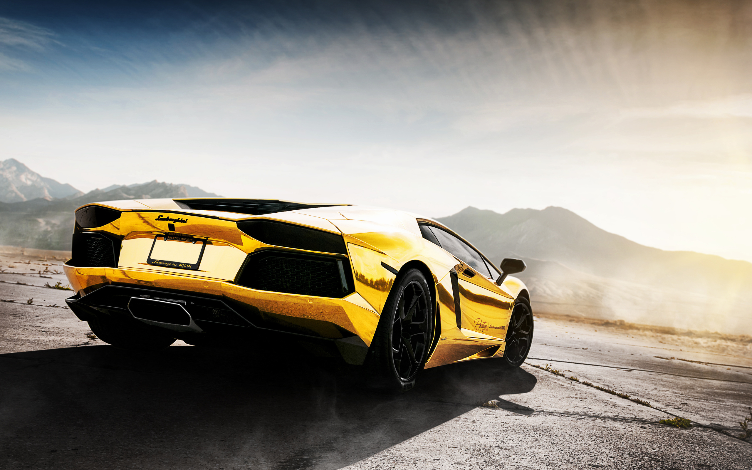 Gold Car Wallpapers: Black And Gold Exotic Cars 34 Wide Wallpaper