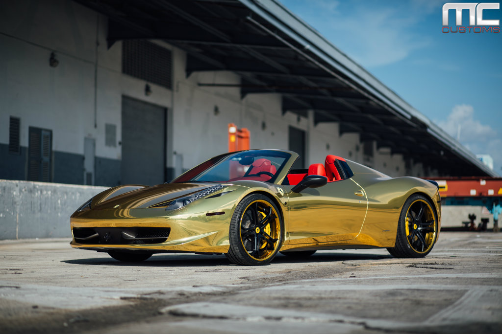 Black And Gold Ferrari 15 Widescreen Wallpaper