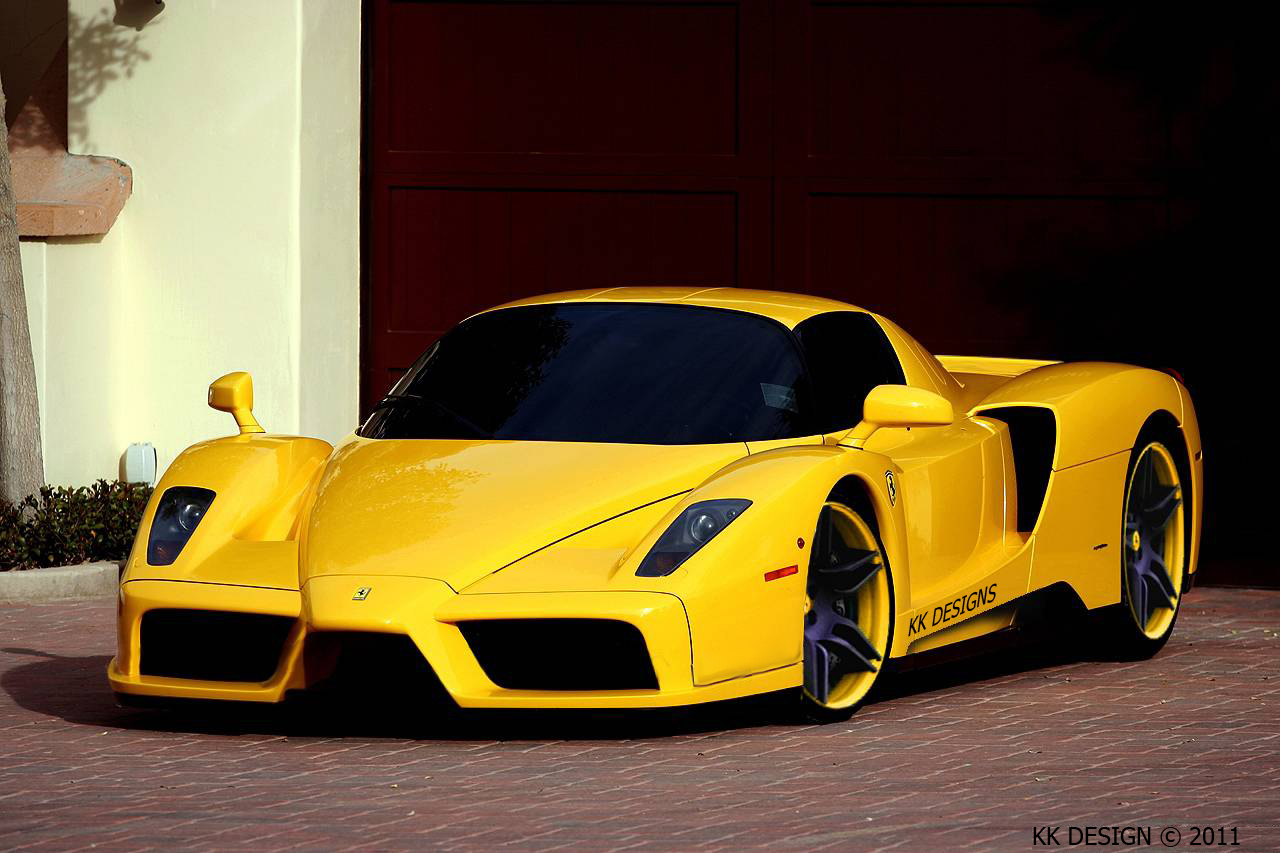 Black And Gold Ferrari 2 Background Wallpaper