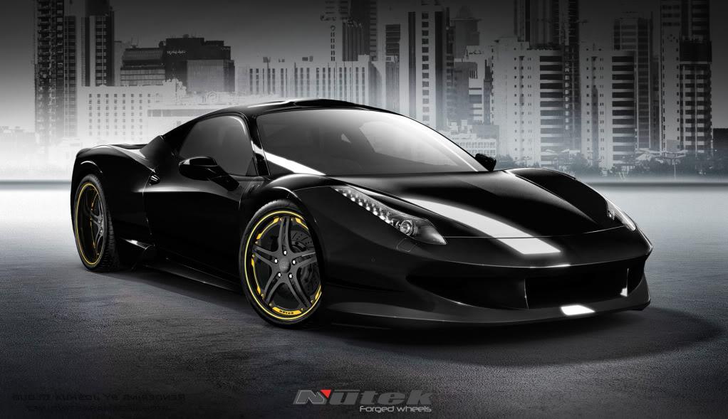 Black And Gold Ferrari 8 Free Hd Wallpaper