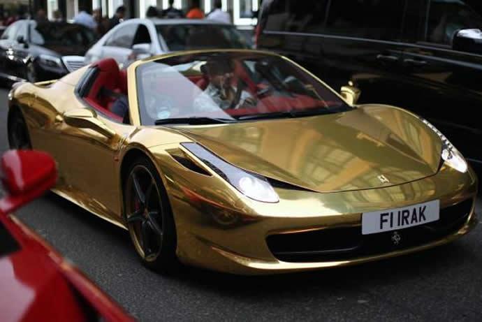 Black And Gold Ferrari 40 Cool Hd Wallpaper