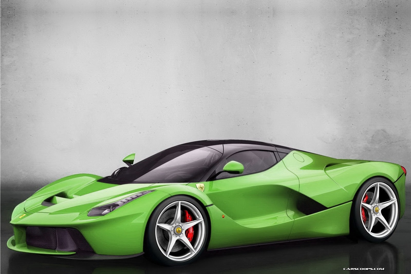 Black And Green Ferrari 22 Cool Wallpaper