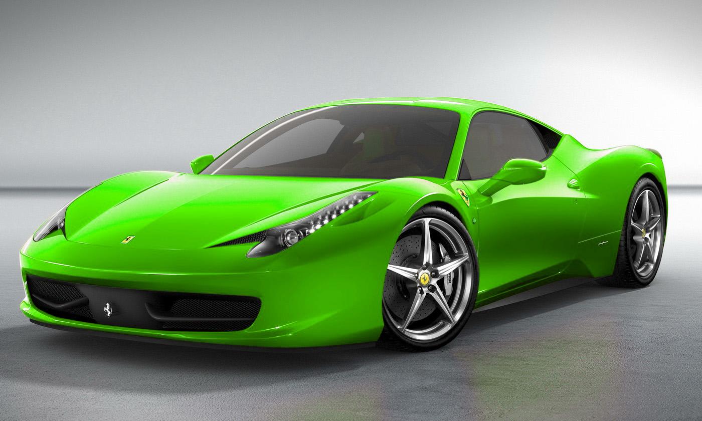 Black And Green Ferrari 6 Desktop Background ...