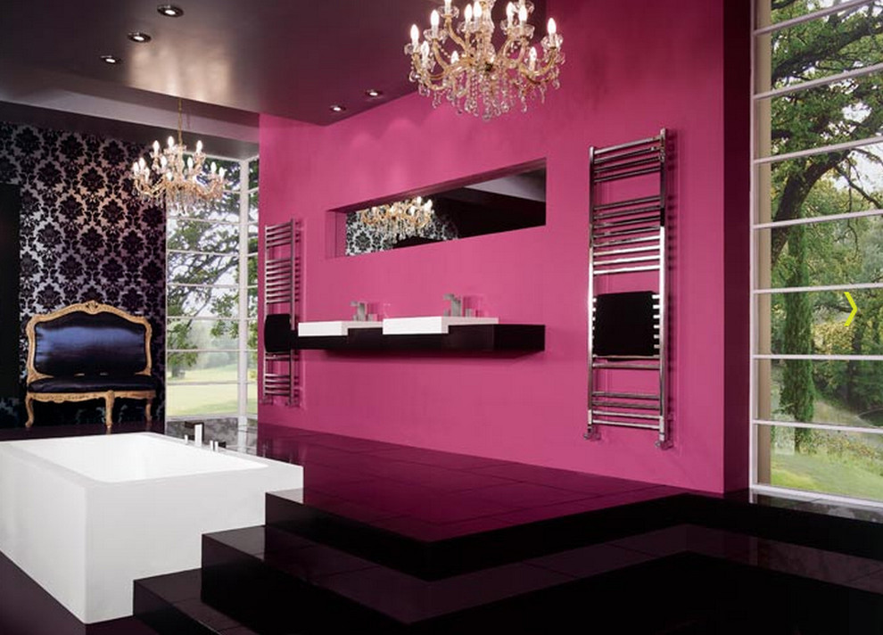 Black and pink bathroom ideas 26 cool wallpaper Pink bathroom ideas pictures
