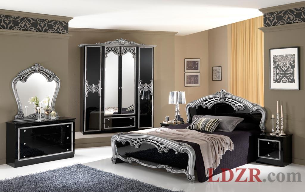 Black And Silver Bedroom Set 1 Cool Wallpaper - Hdblackwallpaper.com