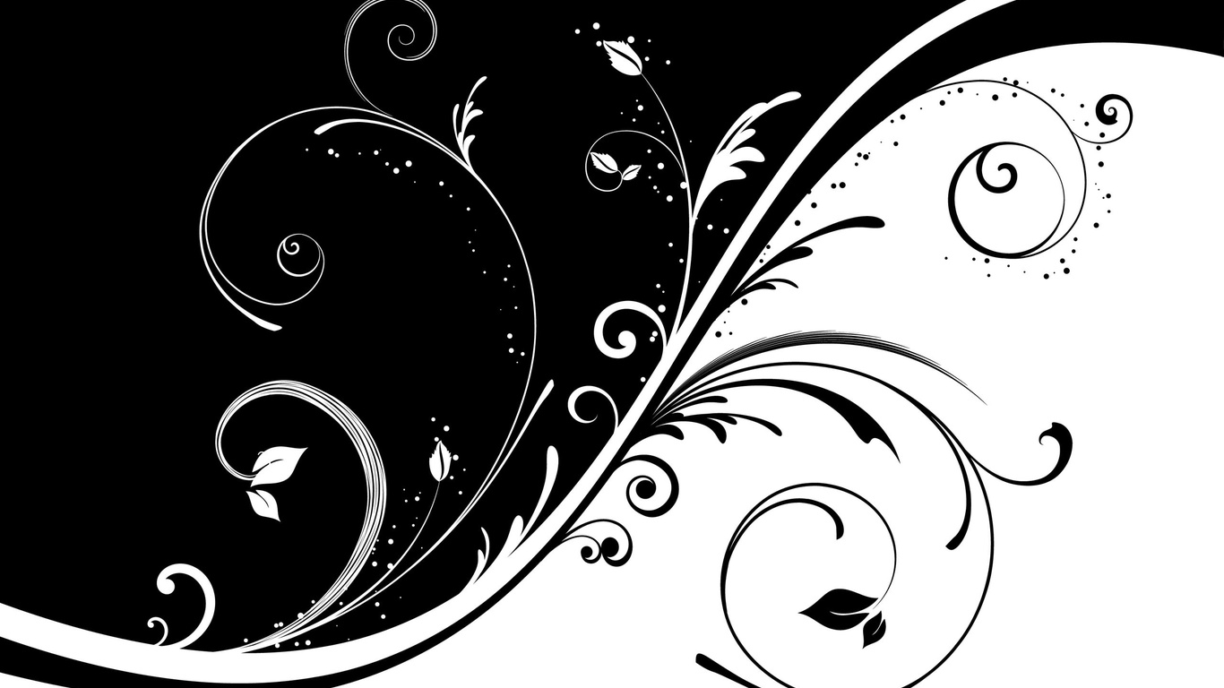 Black And White 3d Wallpaper 15 Background