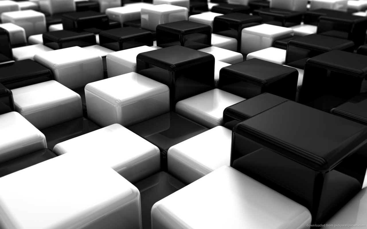 Black And White 3D Wallpaper  33 High Resolution Wallpaper