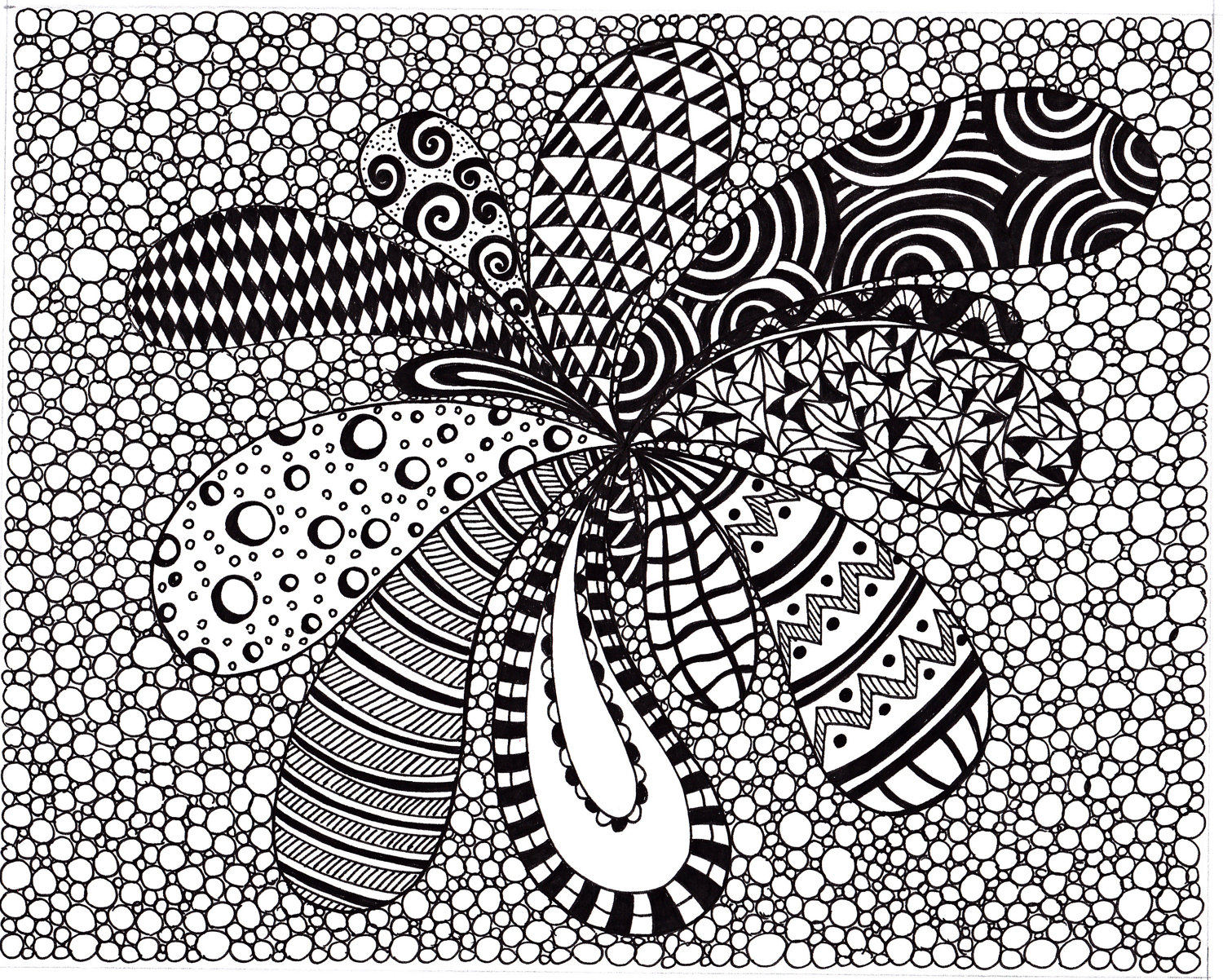 Black And White Abstract Drawings 20 Wide Wallpaper