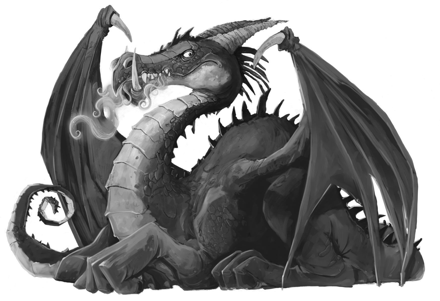 Cool white dragons