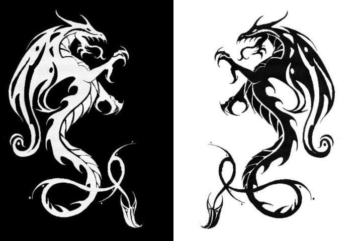 Cool Dragons Black And White