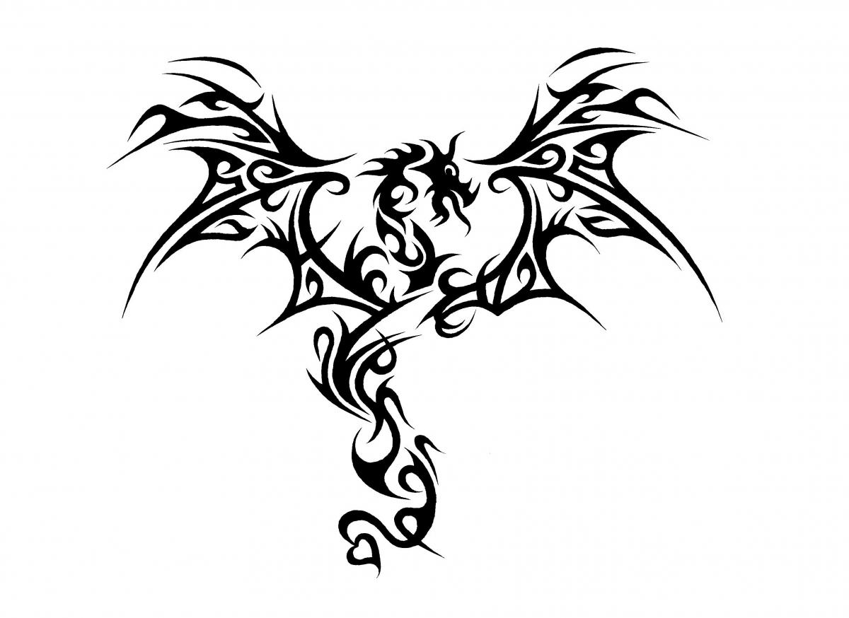 Black and white images of dragons 31 cool hd wallpaper for Line drawing wallpaper