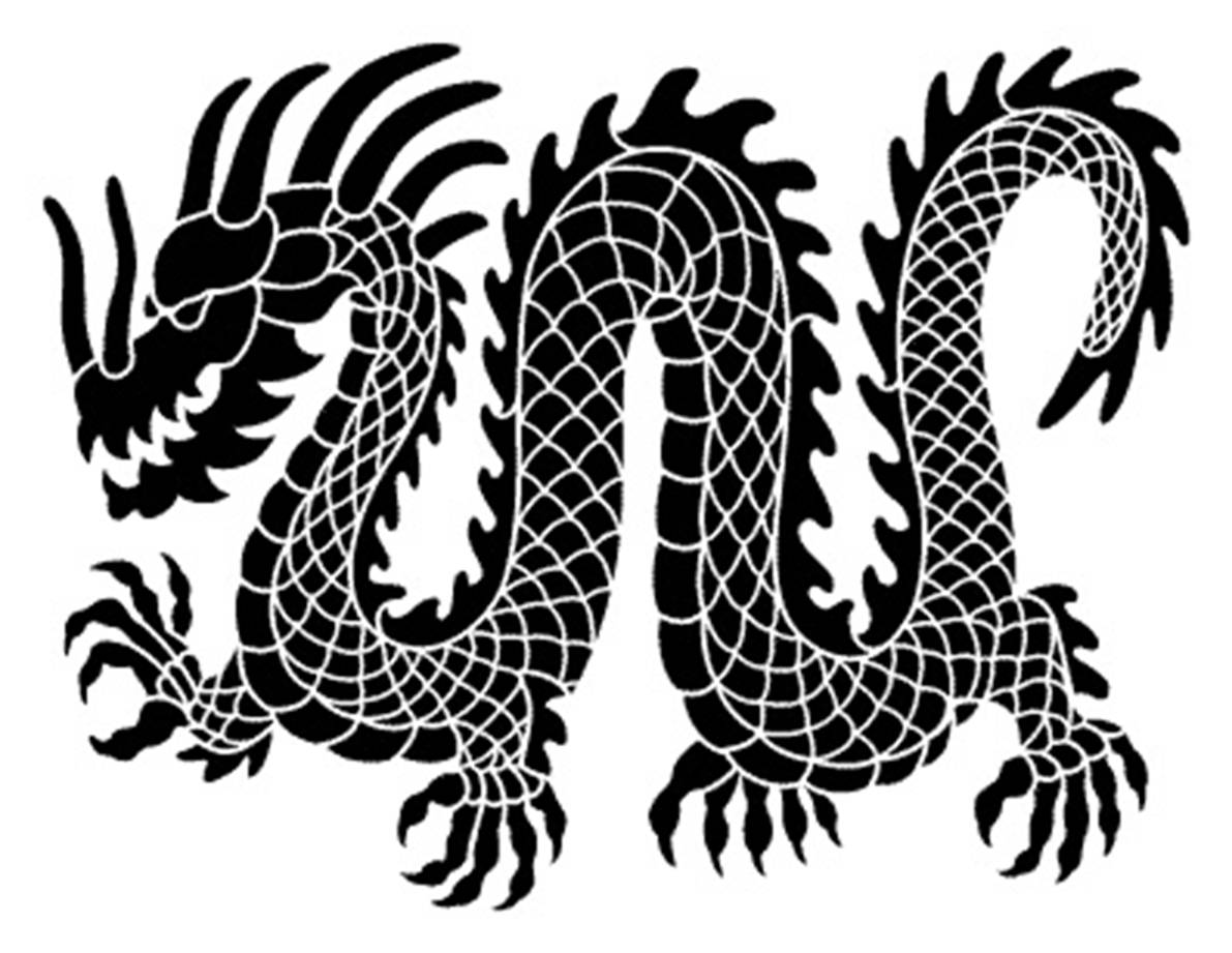 Dragon Line Drawing Easy : Black and white images of dragons free hd wallpaper