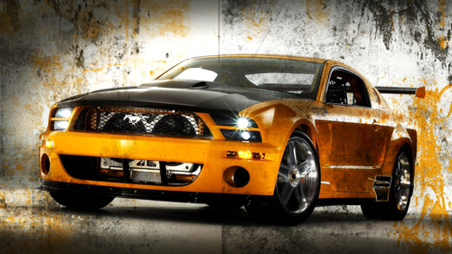 Cool black and yellow cars