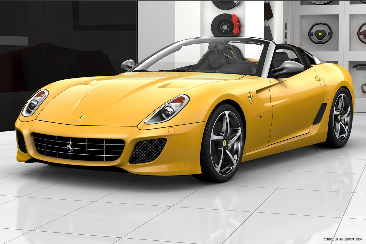 Black And Yellow Ferrari 23 Wide Wallpaper