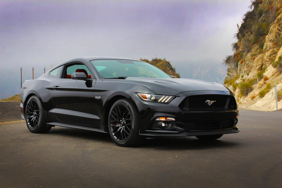 Black Ford Mustang 19 Wide Wallpaper