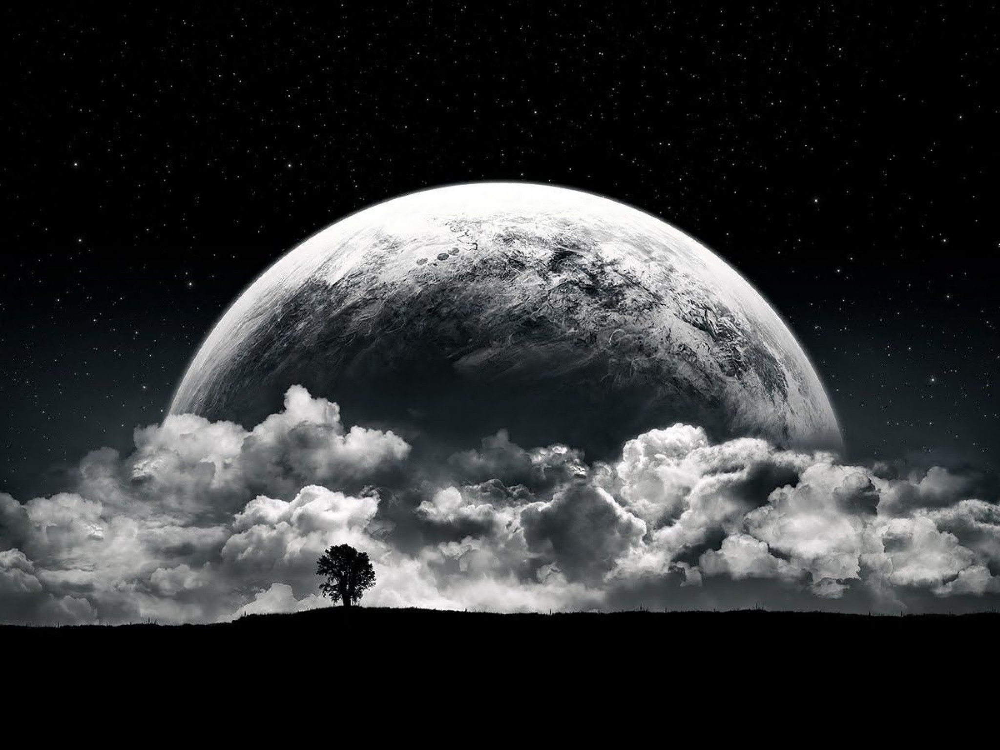 wallpaper dark planet - photo #25