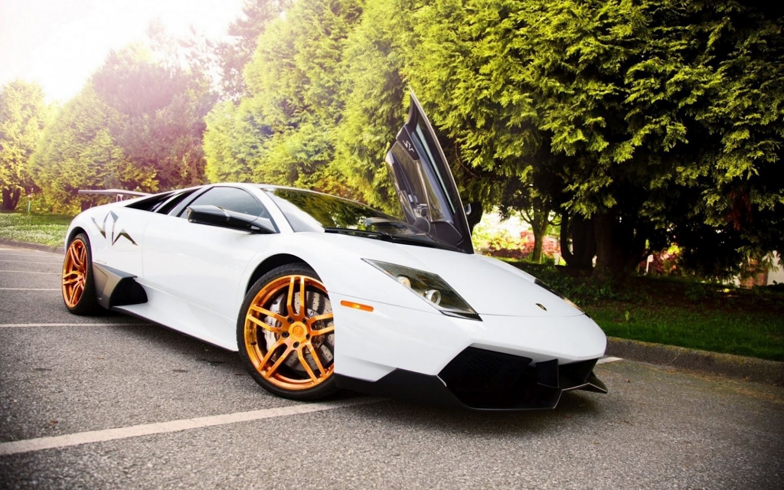 Gold And Black Lamborghini Wallpaper 4 Background