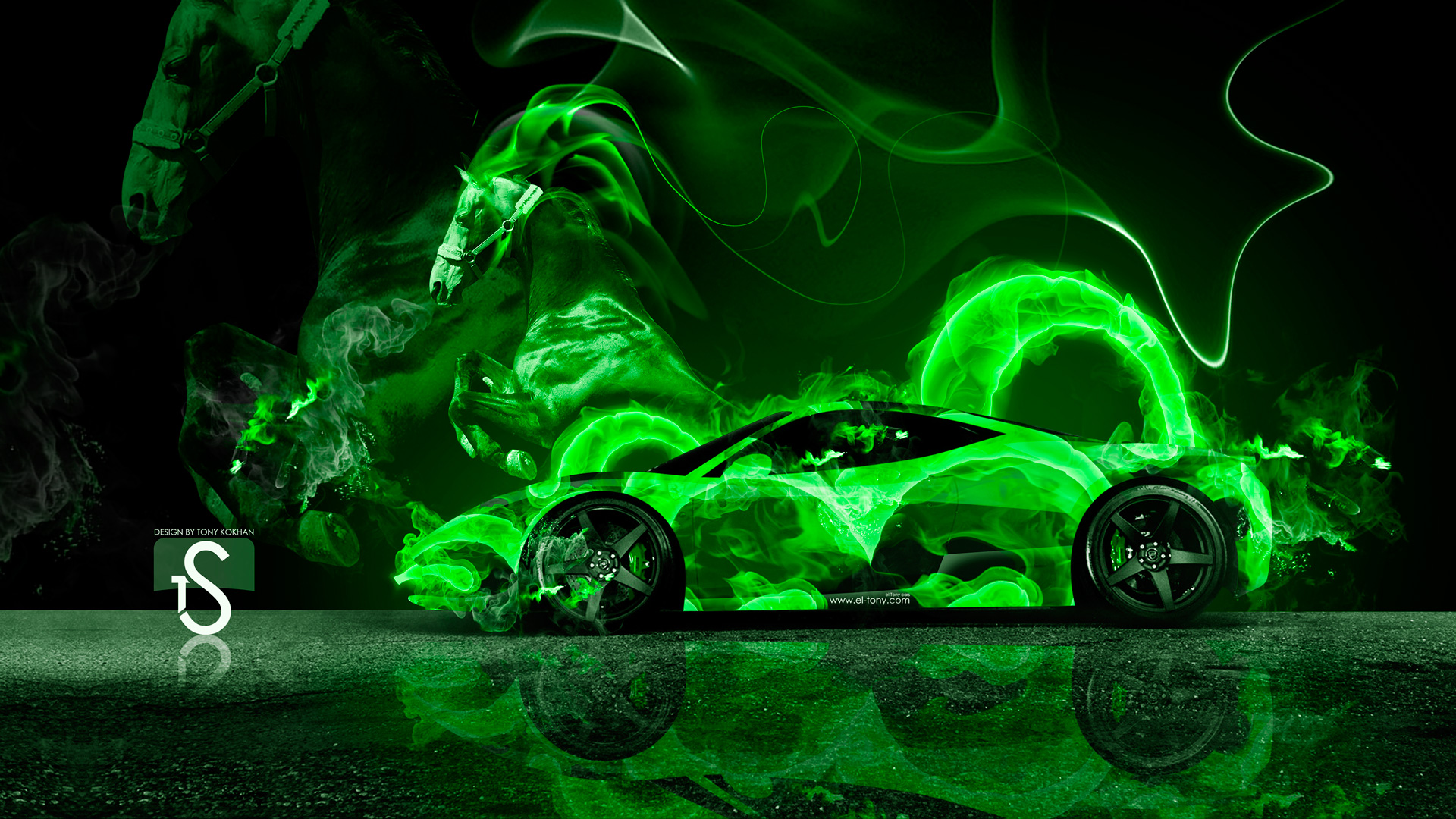 Neon Green Bugatti Www Pixshark Com Images Galleries