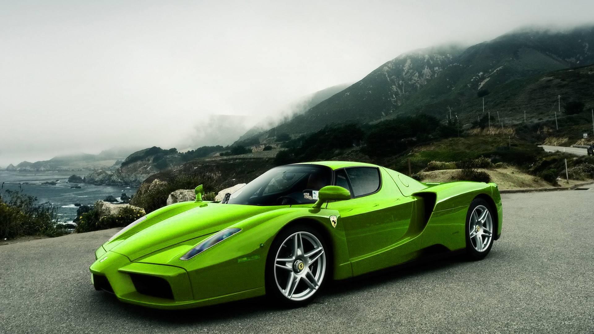 Green And Black Ferrari Wallpaper 6 Background