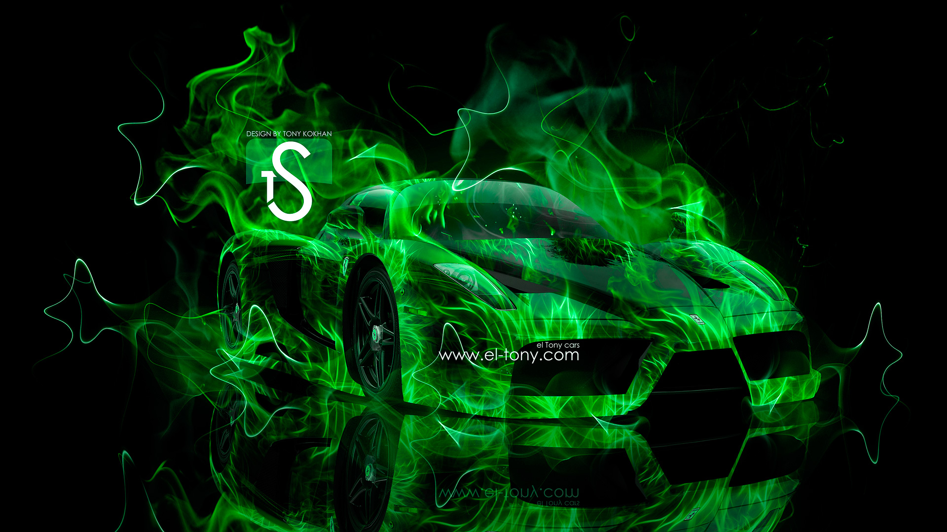 Green And Black Ferrari Wallpaper 6 Background