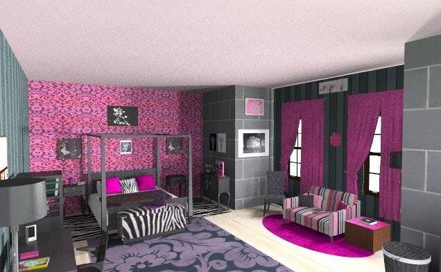 Pink And Black Bedrooms  12 Desktop Background