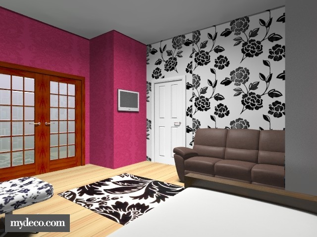 Pink and black bedrooms 15 cool hd wallpaper for Black and pink wallpaper for bedroom