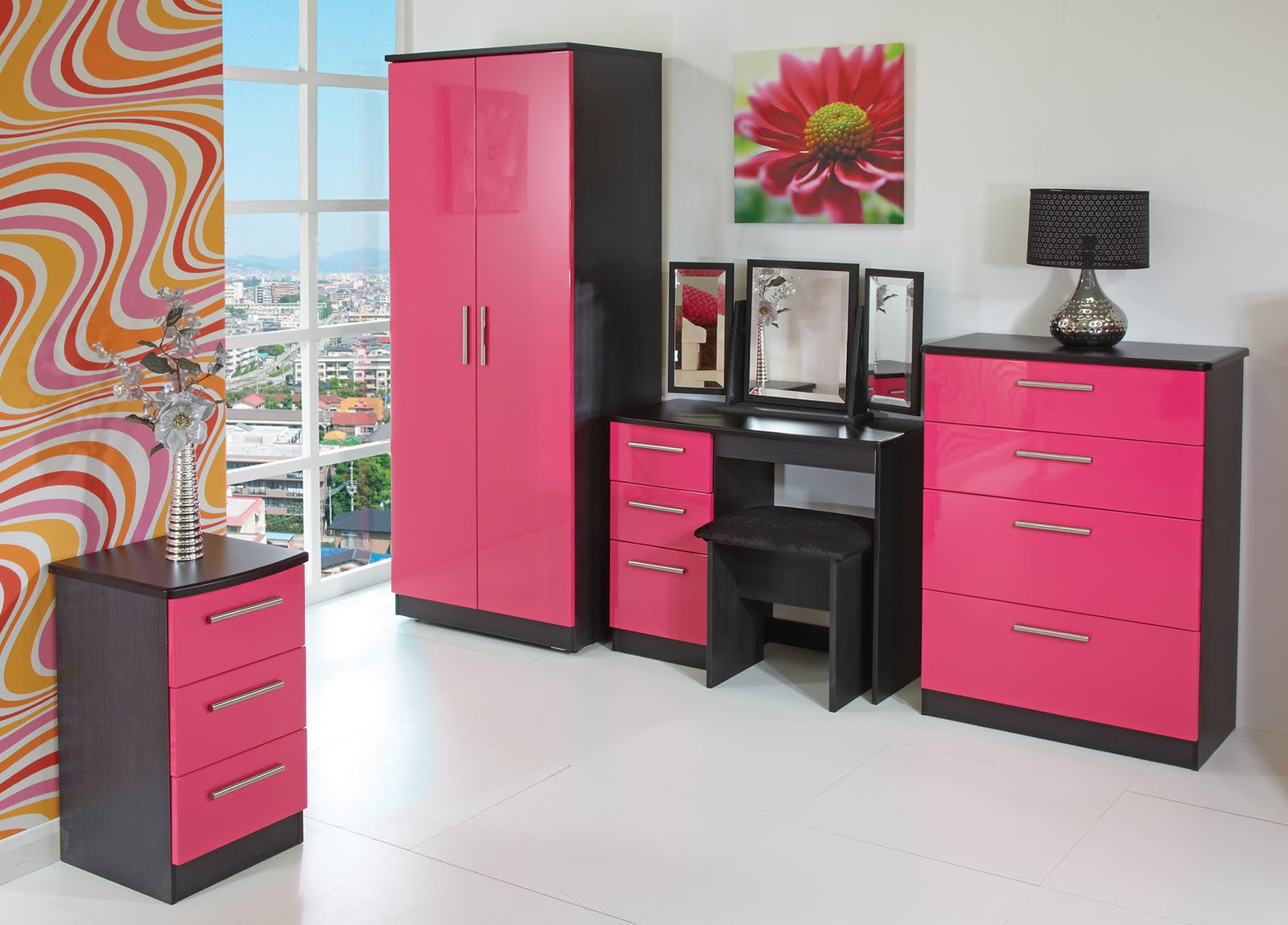 Pink And Black Bedroom Wallpaper Pink And Black Bedrooms 2 Hd Wallpaper Hdblackwallpapercom