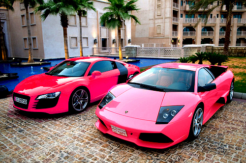 Pink And Black Exotic Cars 27 Widescreen Wallpaper