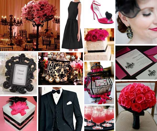 Pink And Black Wedding Ideas: Pink And Black Wedding Theme 1 Cool Wallpaper