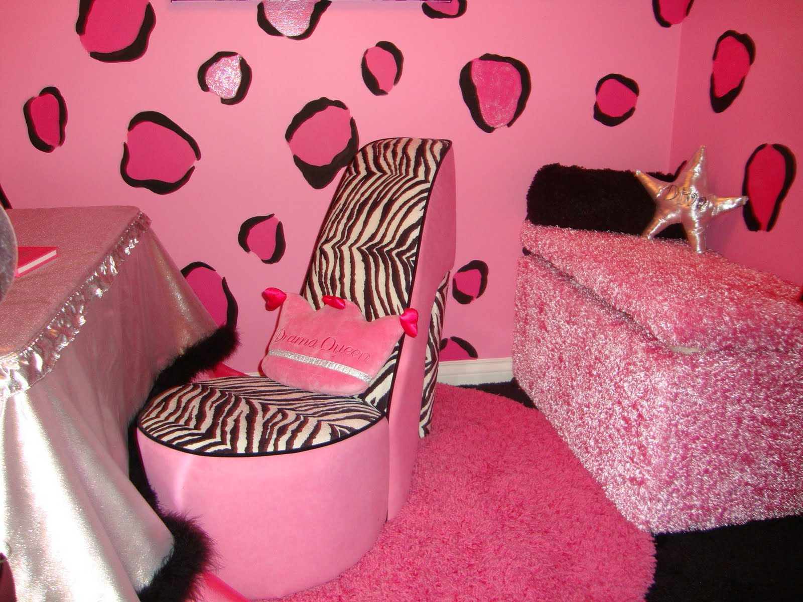 Pink And Black Zebra Shower Curtain 12 Free Wallpaper ...