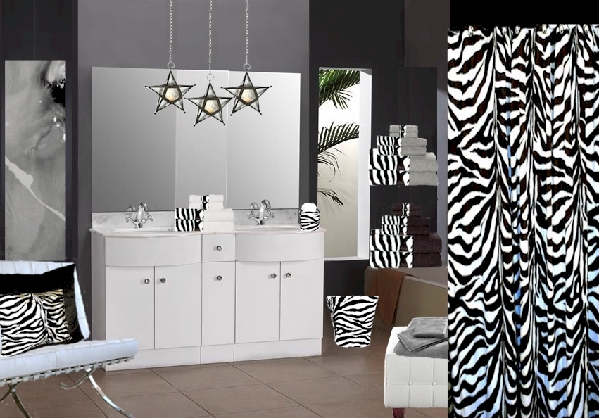 Pink And Black Zebra Shower Curtain 18 Hd Wallpaper ...