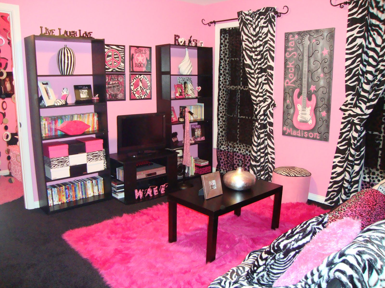 Pink And Black Zebra Shower Curtain 29 Free Wallpaper ...