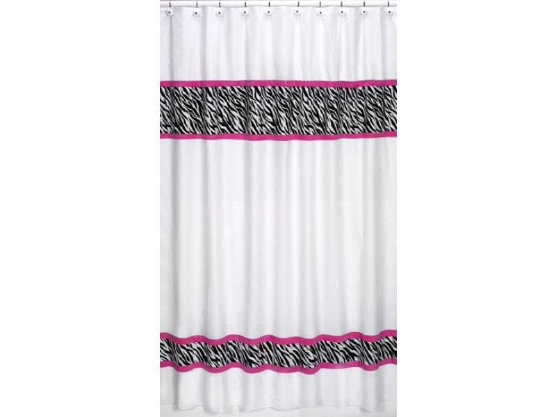 Pink And Black Zebra Shower Curtain 18 Hd Wallpaper ...