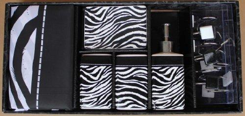 Pink And Black Zebra Shower Curtain 10 High Resolution