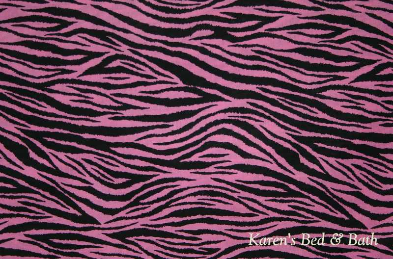 Pink And Black Zebra Shower Curtain  35 Wide Wallpaper