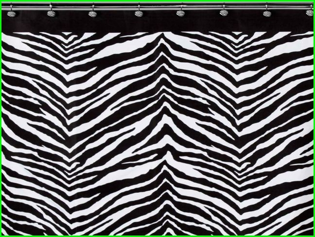 Pink And Black Zebra Shower Curtain 6 Hd Wallpaper ...