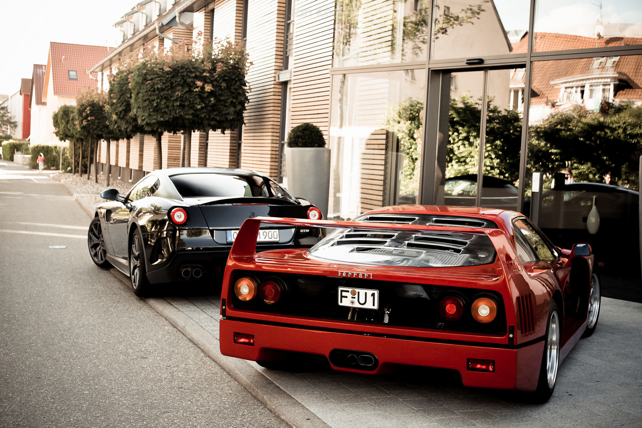 red and black ferrari - photo #47