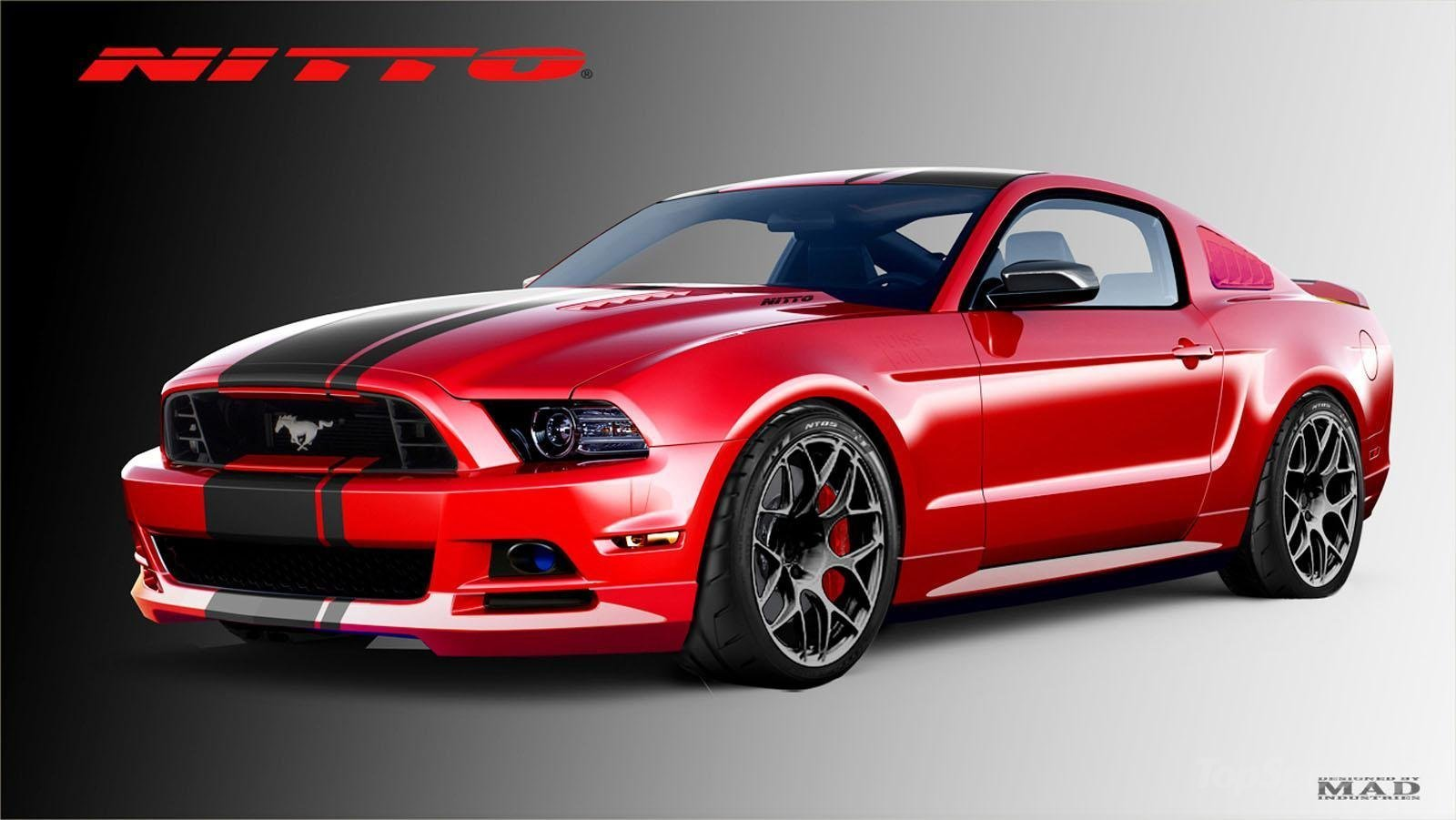 red and black race cars 42 background - Mustang 2014 Black Wallpaper