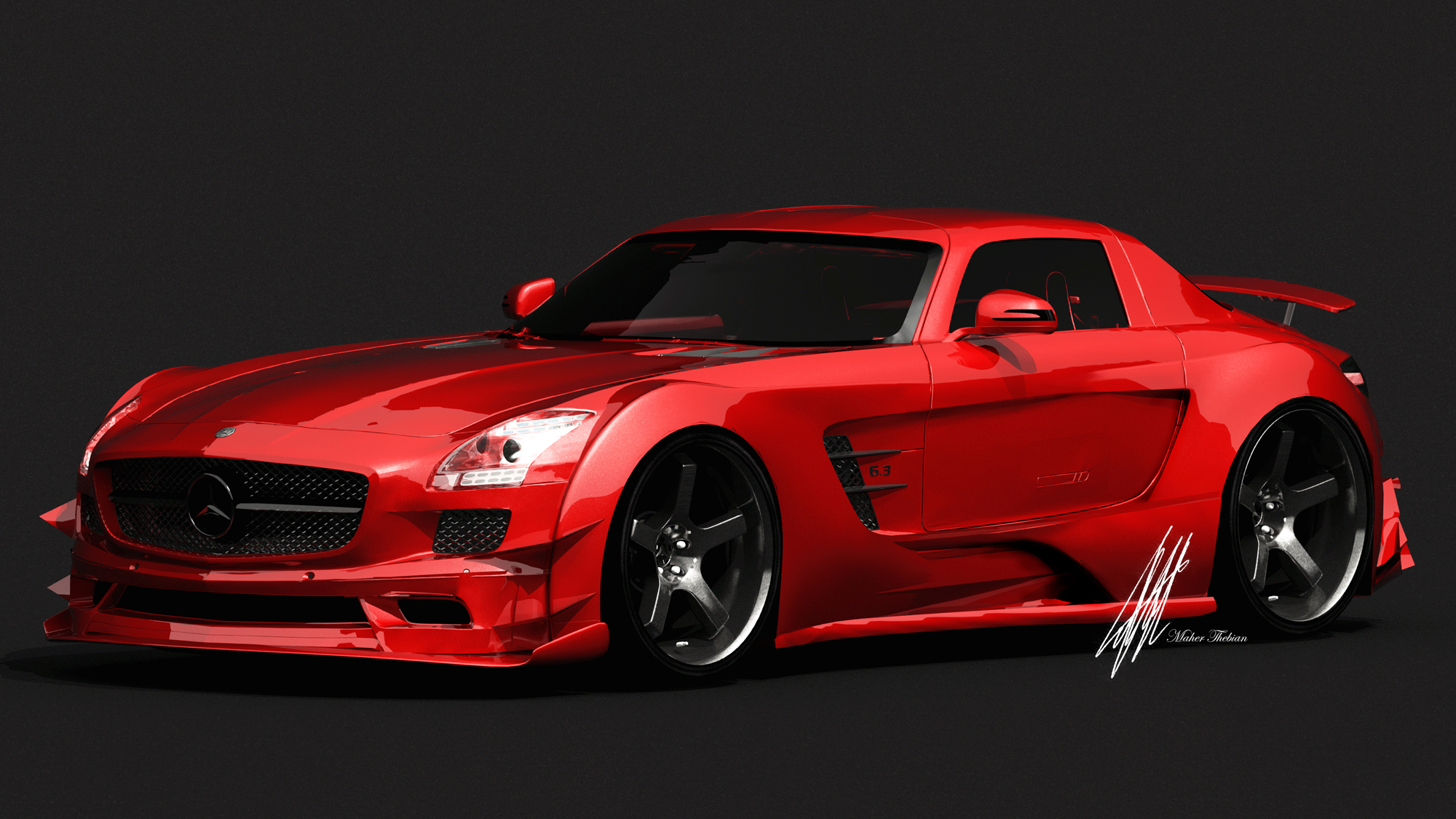 Red And Black Sports Cars 10 Desktop Background