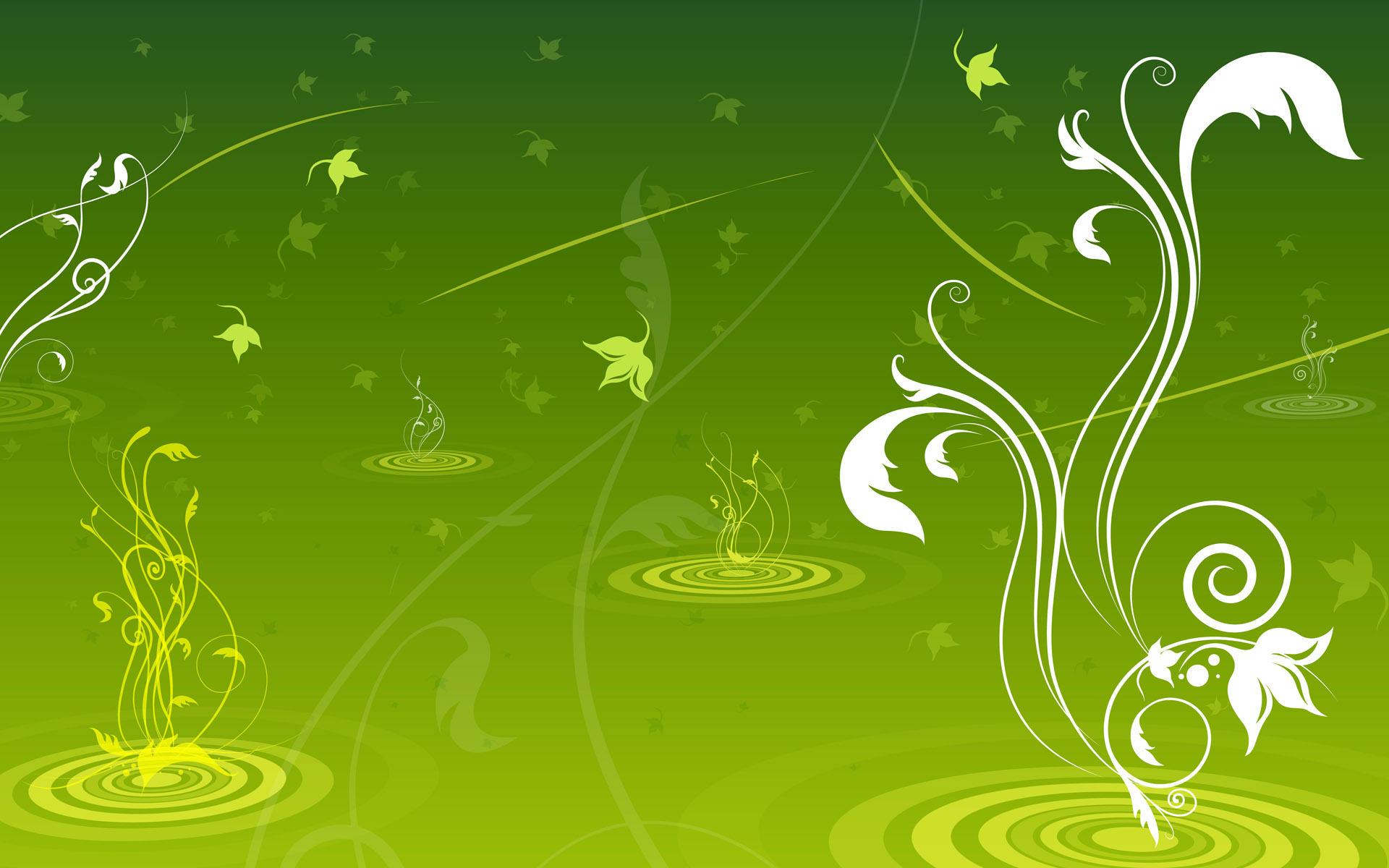 Black And Green Art Wallpaper 2 Wide